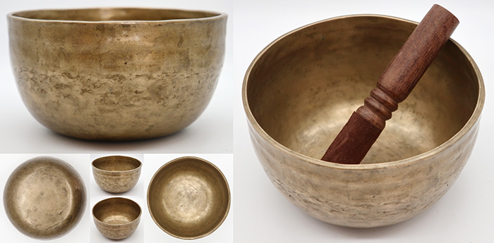 Characterful 18th Century Bell-Shaped Singing Bowl  - Rare & Lovely A3 (224Hz)