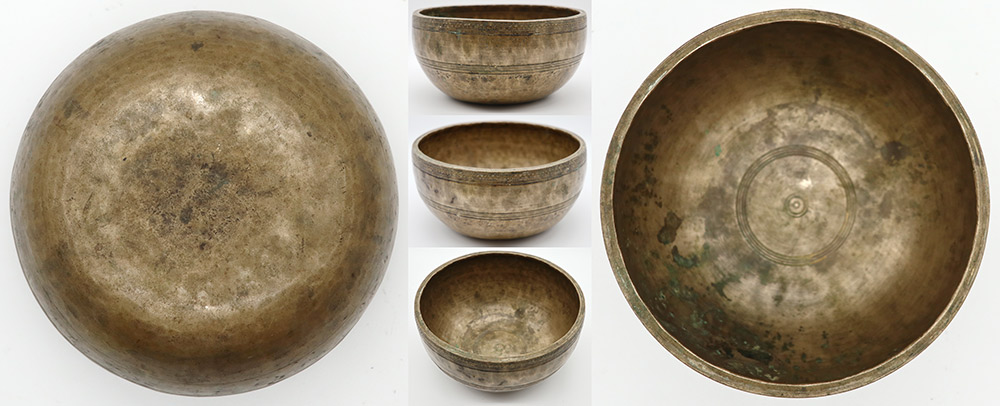 Superb Inscribed Antique Thadobati Singing and Fountain Bowl– Perfect Pitch Eb4 (311Hz)