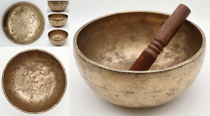 Fabulous Antique Thadobati Singing & Talking Bowl – Perfect Pitch G#3 - Exceptionally Vocal