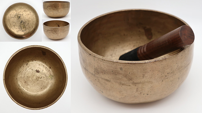 Superior & Rare Antique Thadobati Singing/Talking/Fountain Bowl – A3 (215Hz)