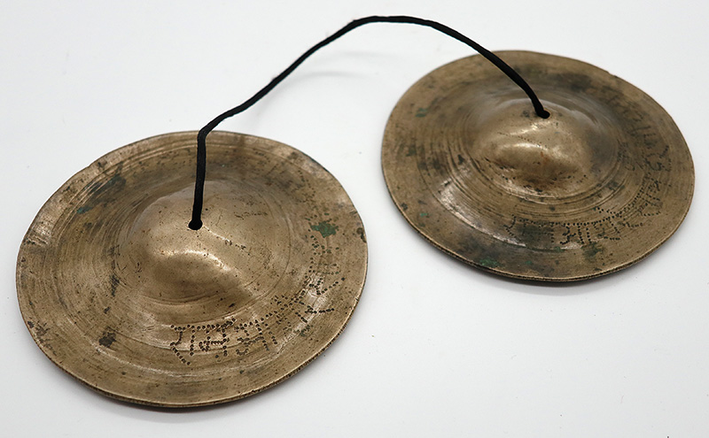 Rare Antique Tibetan Tingsha Set – B6 (1978Hz) - Inscribed