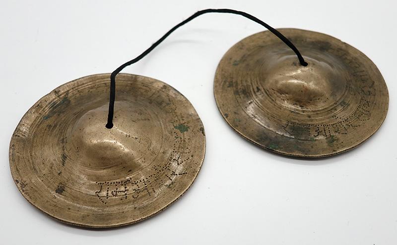 Rare Antique Tibetan Tingsha Set – B6 (1978Hz) - Inscribed