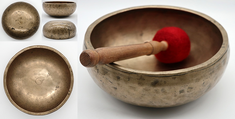 Rare 18th Century Inscribed Singing Bowl – E4 (335-7Hz)