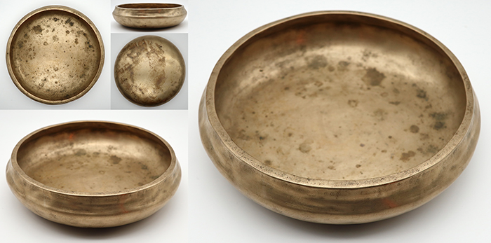 Rare and Interesting Antique Singing & Offering/Shaman Bowl  – E4/F4 with Suns