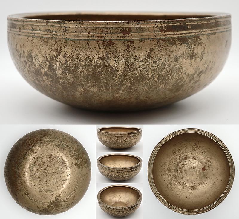 Rare and Beautiful Antique Singing Bowl – G4 (395Hz)
