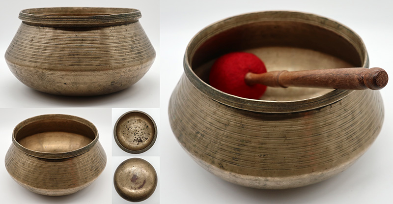 Large, Extraordinary and Extremely Rare Self-Amplifying Antique Singing Bowl