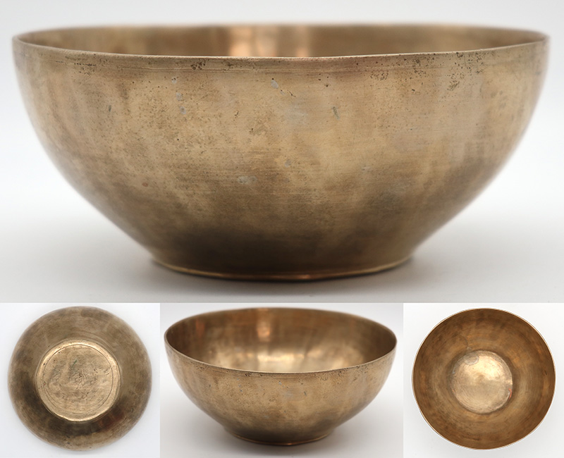 Unusual Small Antique Singing Bowl – A3 (223Hz)