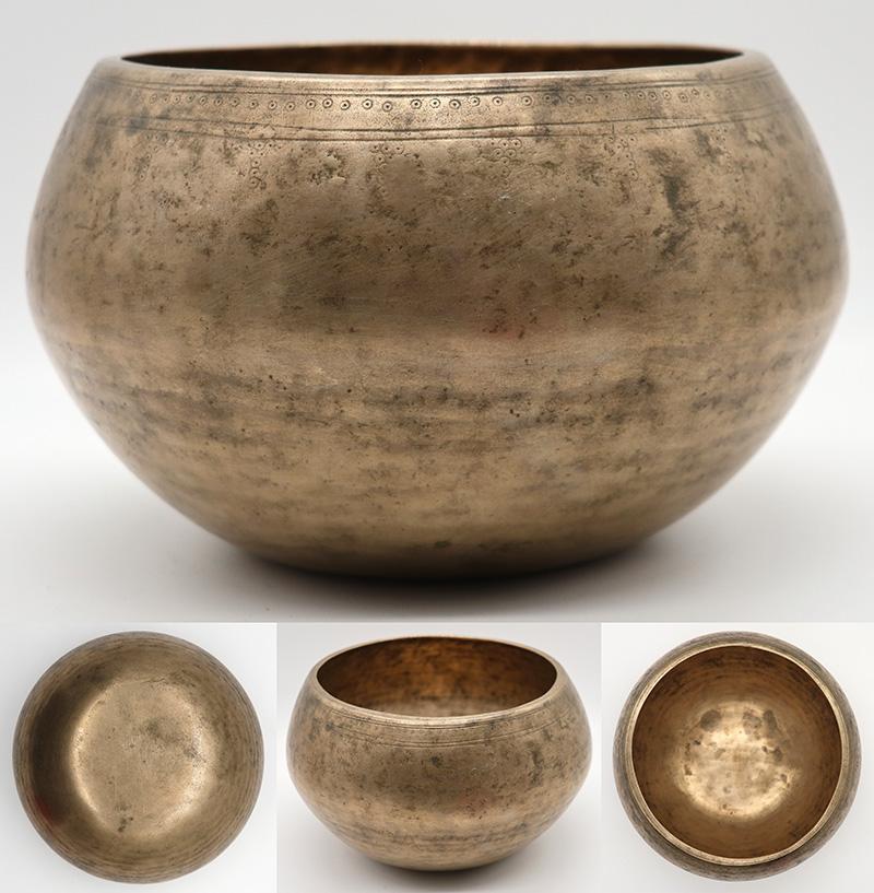 Unusual Antique 'Genie' Singing Bowl – Interesting D4 (300Hz) Voice