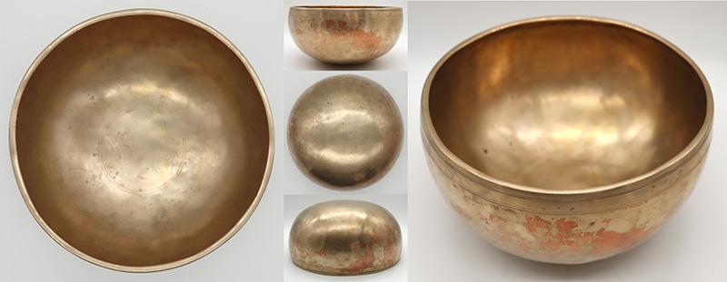 "Superior Quality Medium Size 9"" Antique Jambati Singing Bowl – Interesting Variable Eb3"