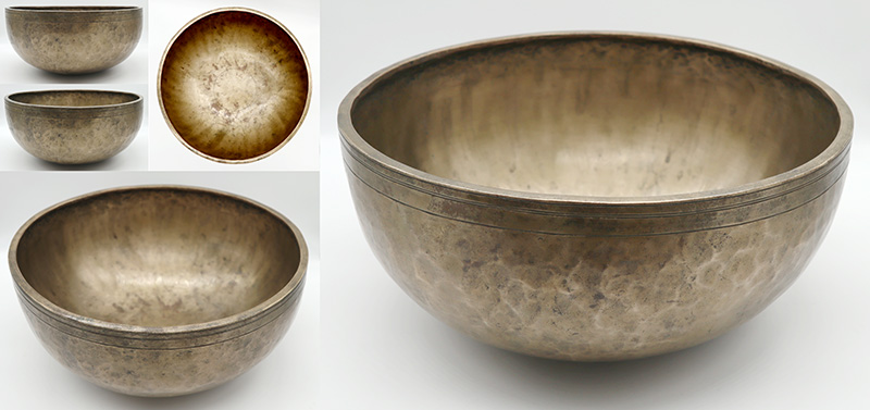 Magnificent Large 12-inch Antique Jambati Singing Bowl – Low A2/Bb2 Cusp (113-114Hz)