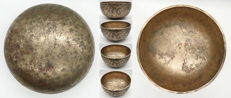 """Fabulous Large 11"""" Antique Jambati Singing Bowl – Low Bb2 & F4 Notes"""