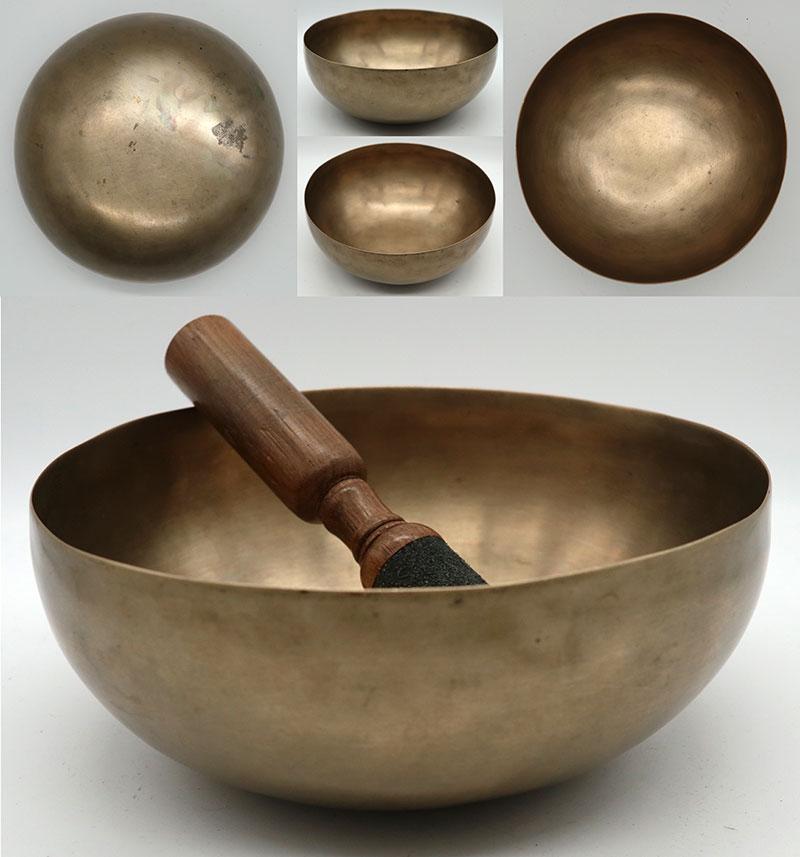 "Ultra-Fine 7 ½"" Antique Jambati Singing Bowl – G2/G#2, D4 & A5 Multi-Harmonic"