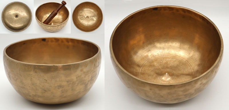 Magnificent Large Golden Antique Lingam Singing Bowl – Stunning G3 & D5