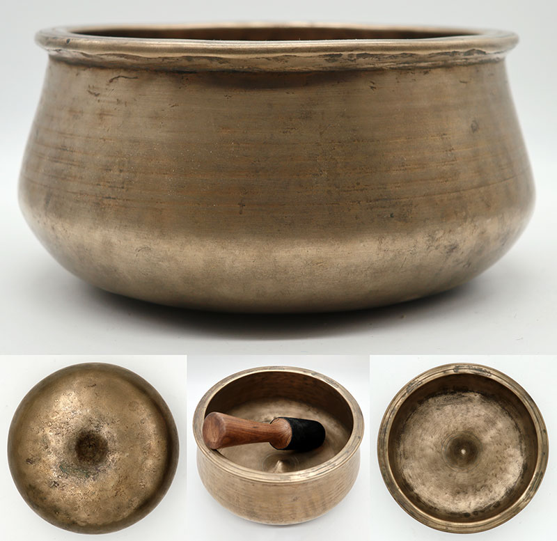 Rare and Extraordinary Antique Lingam Singing Bowl – Fabulous Bb4 (454Hz)