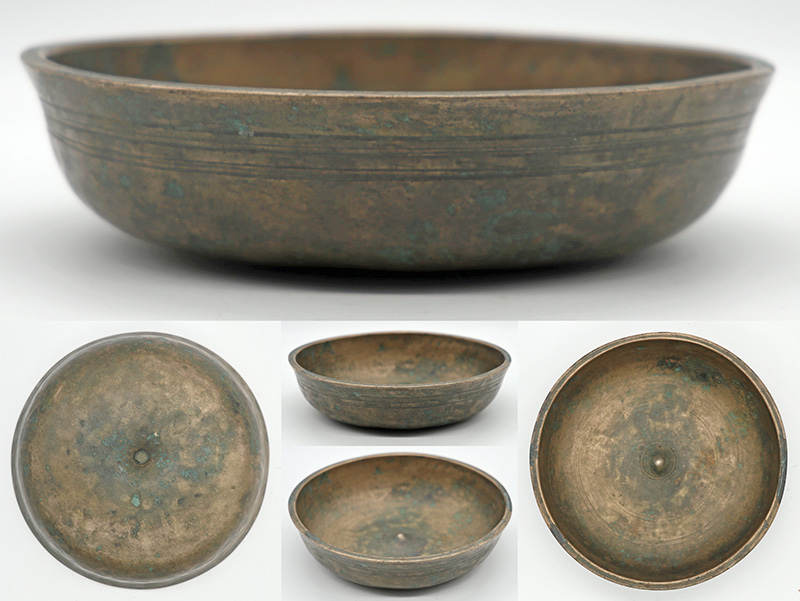Superb Rare Small 18th Century Lingam Singing Bowl – E4 & A5 Notes