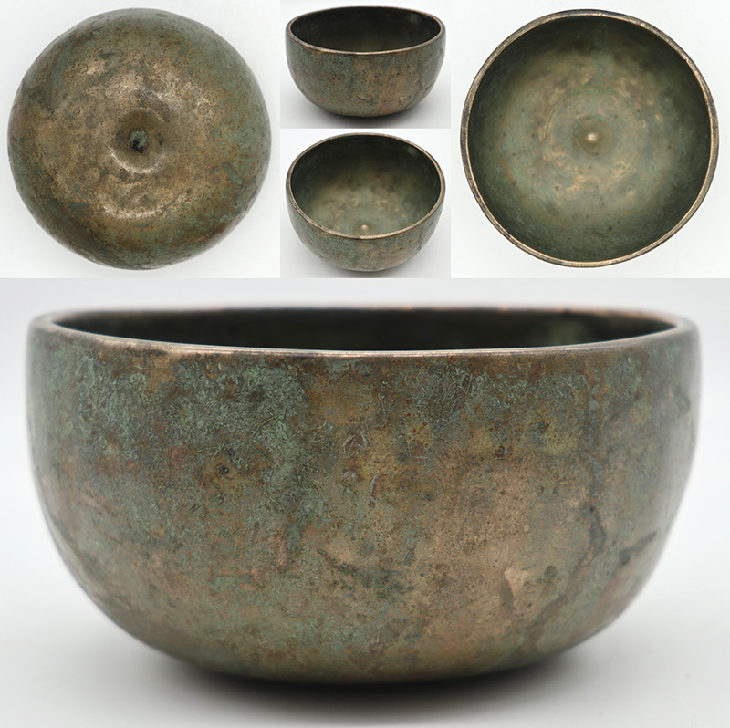 Rare Small Antique Lingam Singing Bowl in 'As Found' Condition