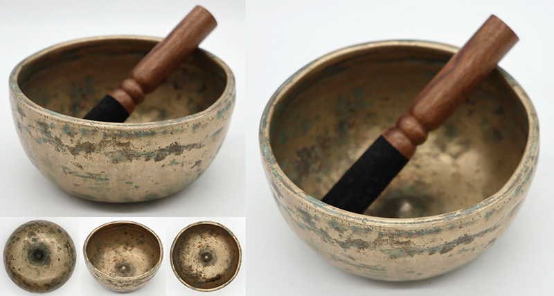 Rare Small Extra-Thick Antique Lingam Singing Bowl – Eb5
