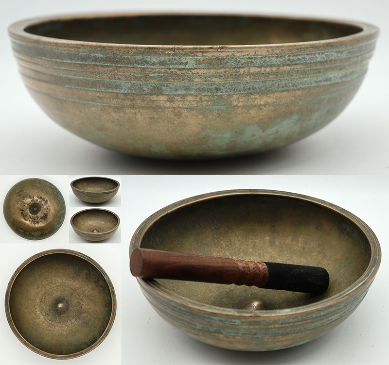 Exquisite Small Antique Lingam Singing Bowl – F4 – Unique & Highly Collectable