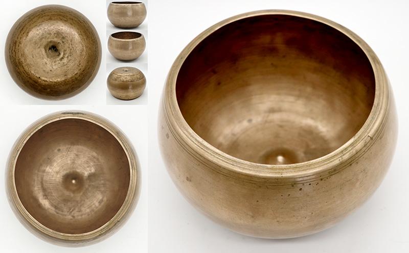 Rare Antique 'Genie' Lingam Singing Bowl – F#4 (379Hz)