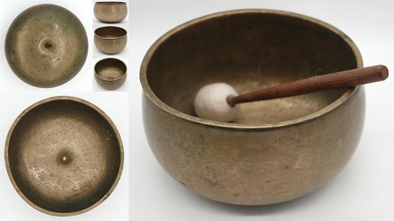 Superb Rare Pot-Shaped Antique Lingam Singing Bowl – lovely Rare A3 Voice