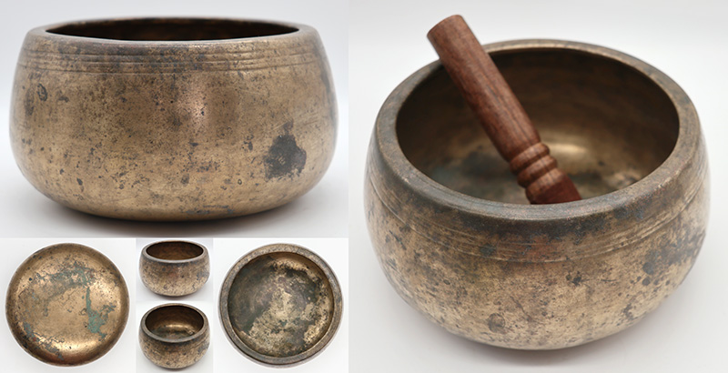 Rare Large Antique Mani Singing Bowl – Eb5 (620Hz)
