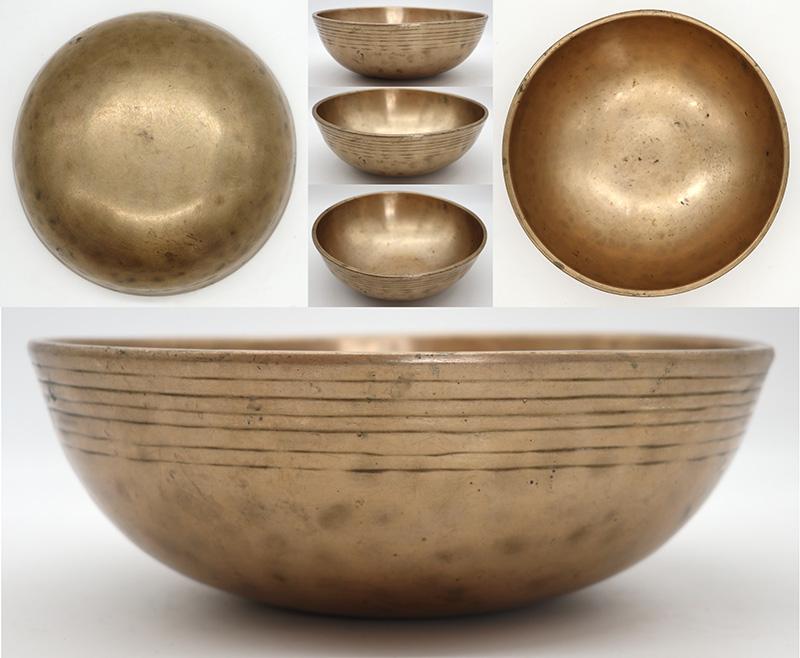 Superior Quality Large Antique Manipuri Singing Bowl - Perfect Pitch E3