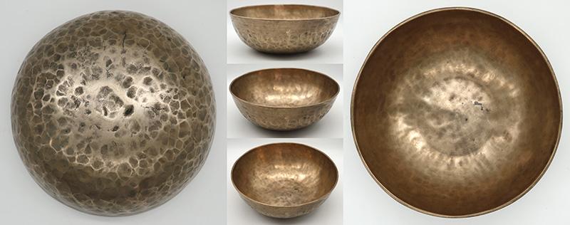 "Exceptionally Rare Large 9 ¾"" Antique Manipuri Singing Bowl – Low F#2 & C4"