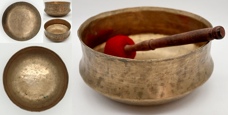 Rare Large & Extraordinary Antique Singing Bowl – Mysterious C#3 (140Hz)