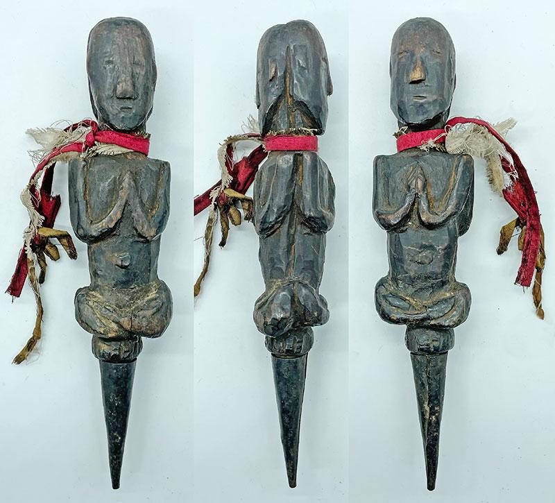 Rare Antique Double-Sided Guru Jhakri/Shaman Phurba from Nepal