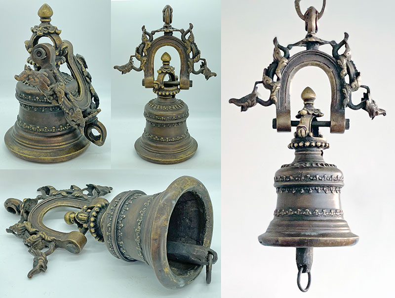 Magnificent Traditional Ornate Bronze Temple Hanging Bell