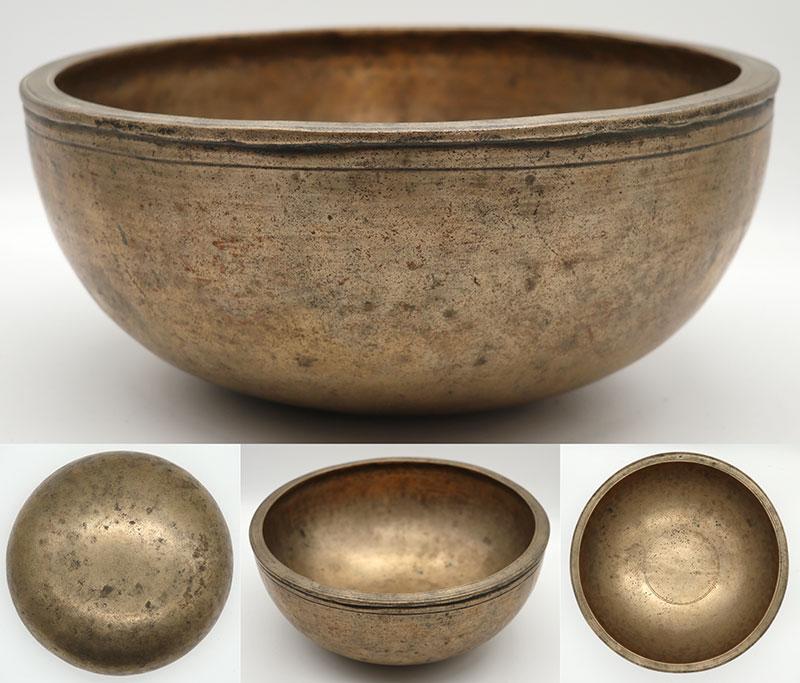 "Attractive Large 19th Century 10 ¼"" Jambati Singing Bowl – Wonderful B3 Voice"