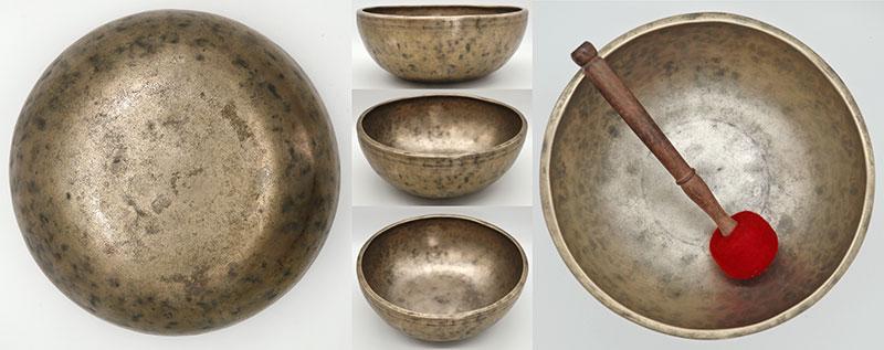 """Superb 19th Century 10 ½"""" Jambati Singing Bowl – Perfect Pitch G3 & D5"""
