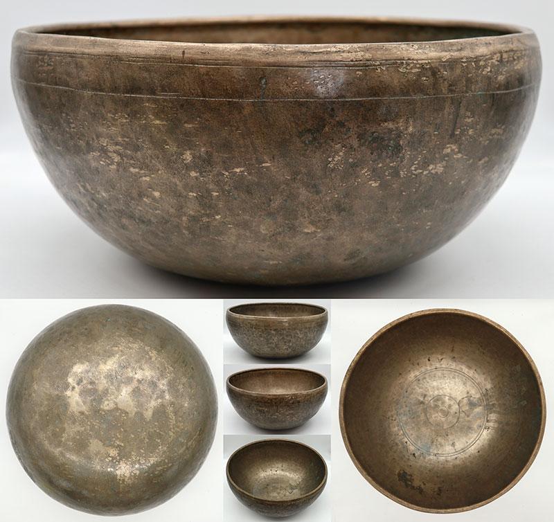 Huge 12 ½ -Inch Jambati Temple Singing Bowl – Low Perfect Pitch B2