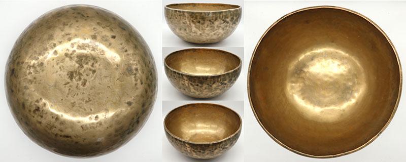 Large 12-Inch 20th Century Golden Jambati Singing Bowl - G2 & C#5 - OM