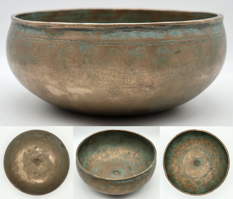 Beautiful Rare 19th Century Lingam Singing Bowl – Lovely Eb3 (158/9Hz)