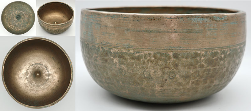 Rare Superior High-Sided 19th Century Lingam Singing Bowl – Glorious Perfect Pitch G3