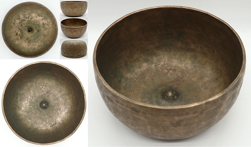 Fabulous Rare Large 19th Century High-Wall Lingam Singing Bowl – Superb E3 (169Hz)