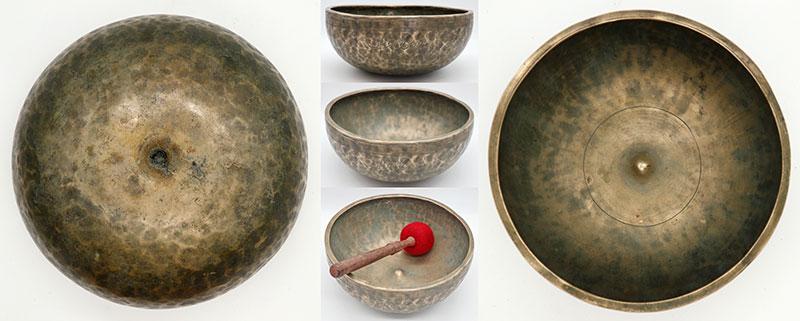 Superb Rare 19th Century Lingam Singing Bowl – Lovely A3 (215Hz)