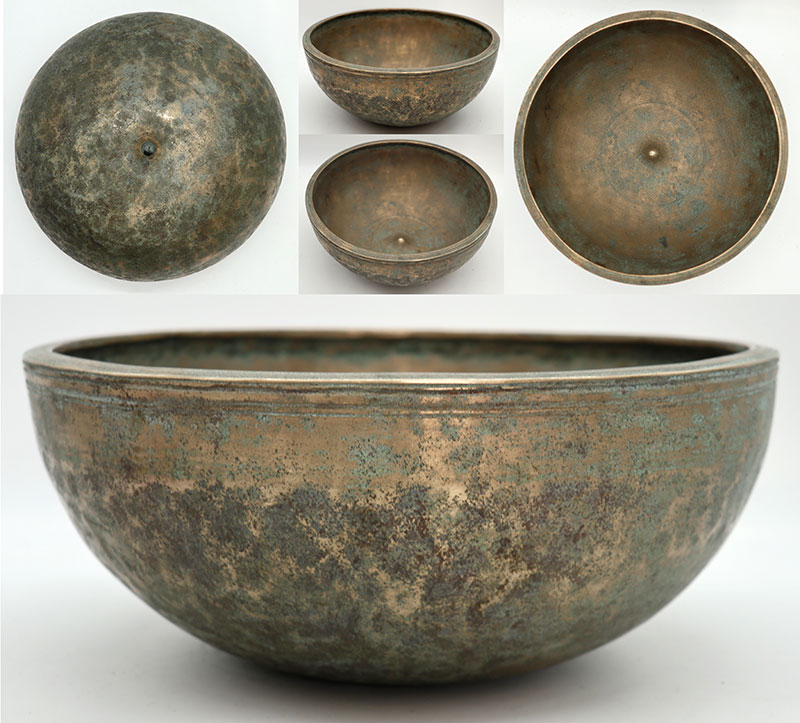 Superb Rare Large 19th Century Lingam Singing Bowl – Glorious G3 (199Hz)