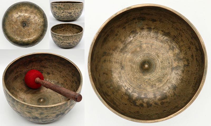 Fabulous Rare 18th Century Lingam Singing Bowl – G3 & 2 Inscriptions!