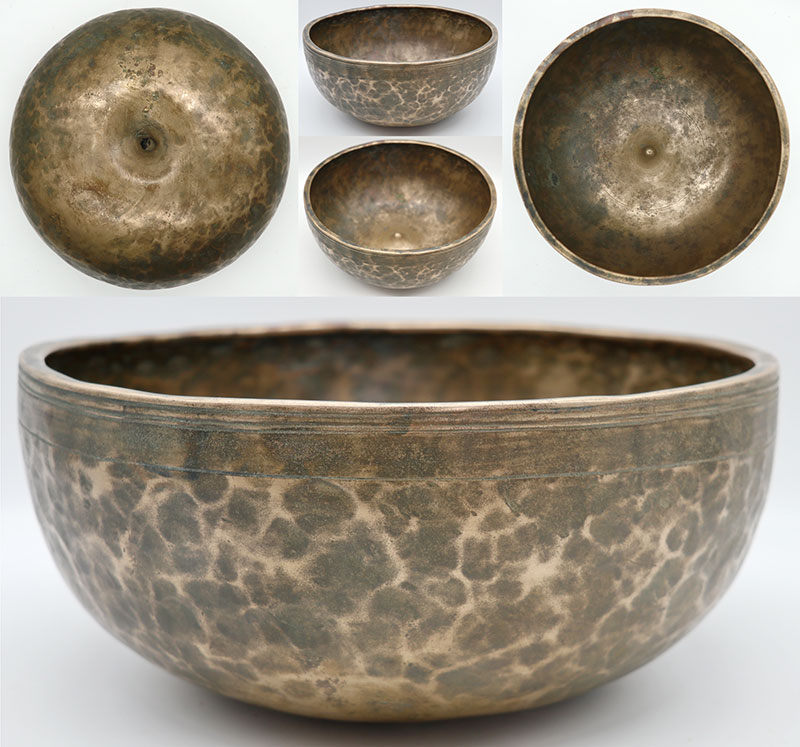"""Superior Rare Large 10 ½"""" Antique Jambati-Lingam Singing Bowl – Perfect Pitch F3"""
