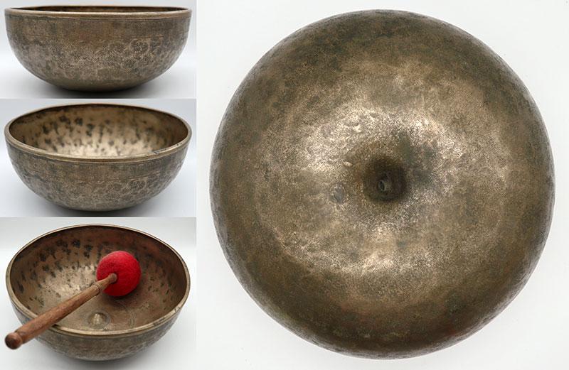 "Ultra-Fine 17th - 18th Century 11 ¼ "" Jambati-Lingam Singing Bowl – Perfect Pitch G#2"