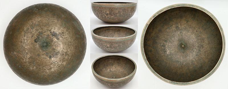 """Spectacular 17th-18th Century 11"""" Inscribed Antique Jambati-Lingam Singing Bowl – G3"""