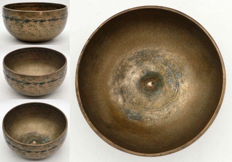 Rare Small 19th Century Lingam Singing Bowl – Concert Pitch F4 & B5 - Ritual Gashes