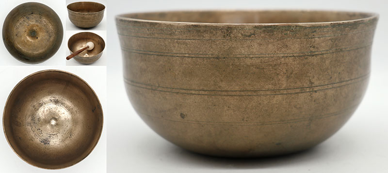 Rare Small Bell-Shaped Lingam Singing Bowl – Great F3 & Bb4