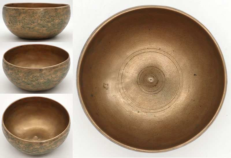 "Rare 19th Century Small 5 ¼ "" Antique Lingam Singing Bowl – Bb4 (465Hz)"