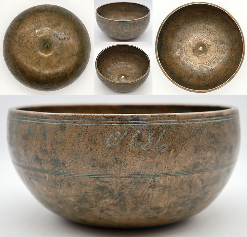 Exquisite 18th Century Lingam Singing Bowl – Perfect Pitch B3 & Inscription