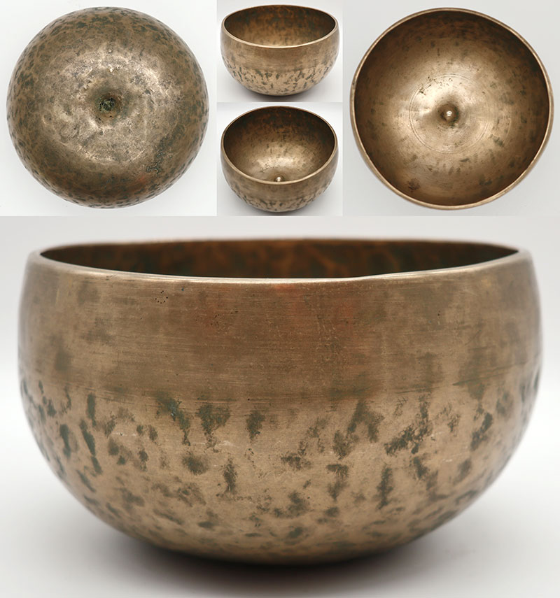 Lovely Rare Antique Remuna-Lingam Singing Bowl – G#3 & D5