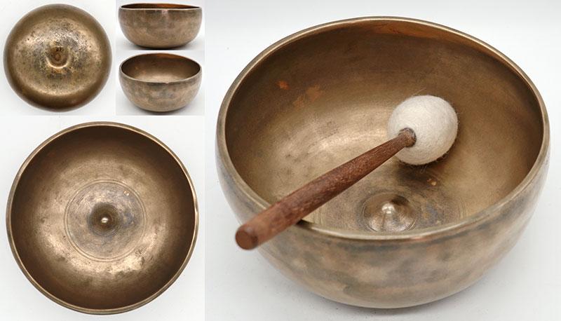 "Ultra-Smooth 19th Century 6 ¾ ""Antique Lingam Singing Bowl – Eb4"
