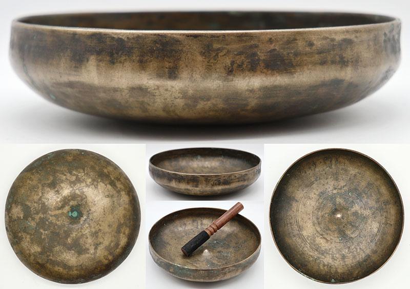 Extremely Rare 17th Century Shaman Lingam Medicine & Divination Singing Bowl